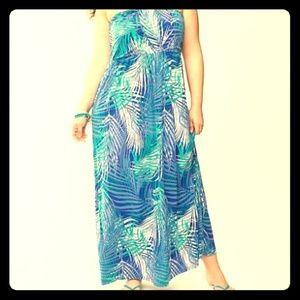 🎀EUC Lane Bryant strapless maxi dress 18/20 flowy